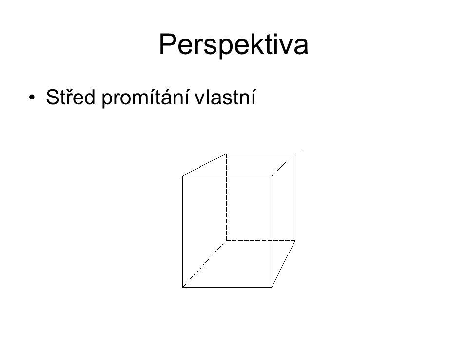 Perspektiva Střed promítání vlastní
