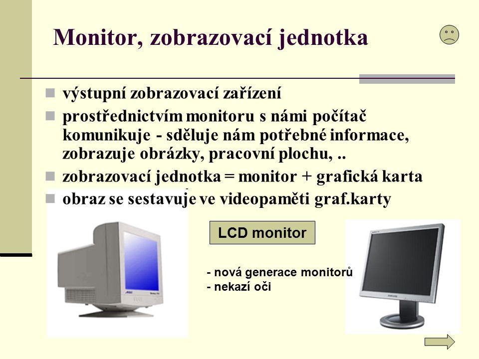 Monitor, zobrazovací jednotka