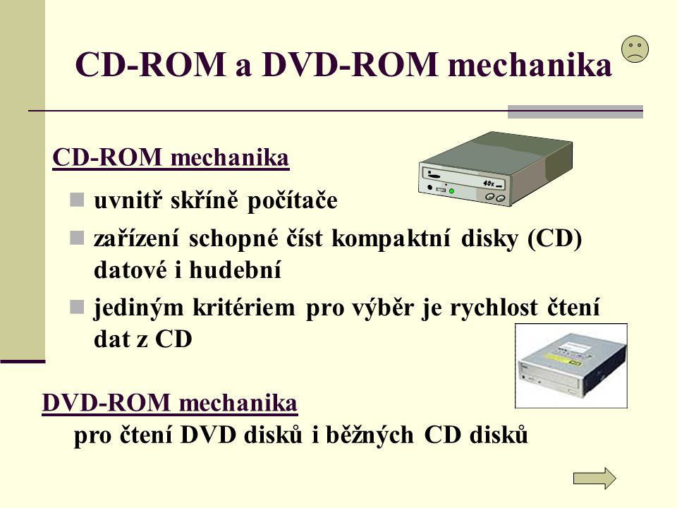 CD-ROM a DVD-ROM mechanika