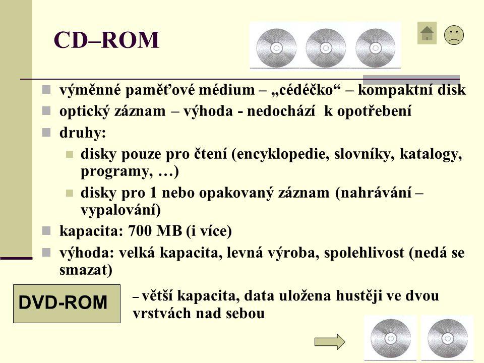 """CD–ROM DVD-ROM výměnné paměťové médium – """"cédéčko – kompaktní disk"""
