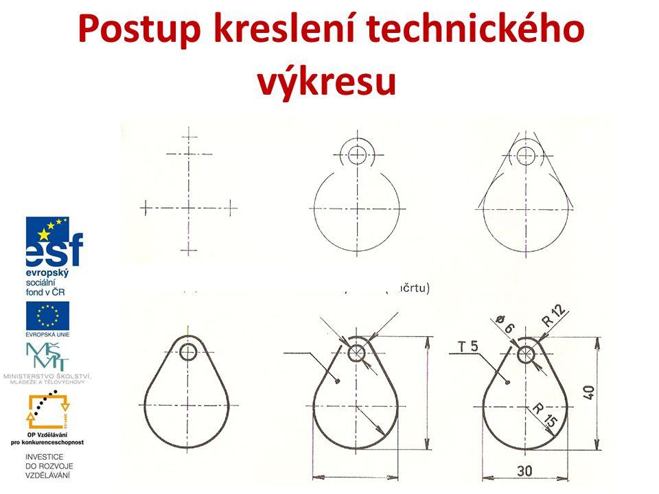 Postup kreslení technického výkresu