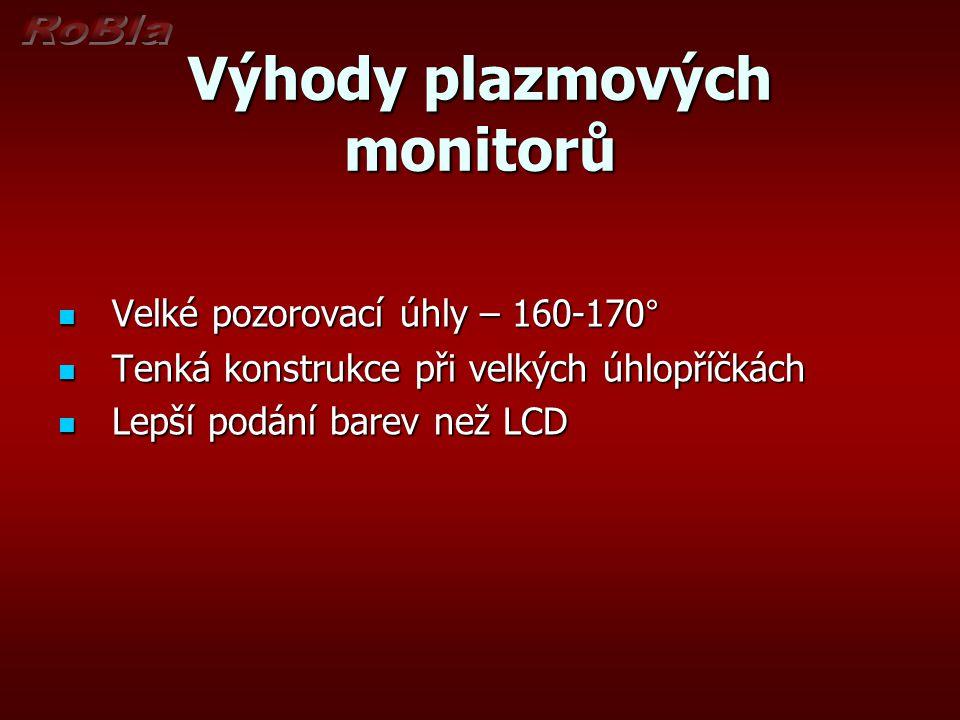 Výhody plazmových monitorů