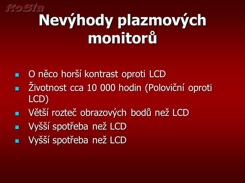 Nevýhody plazmových monitorů