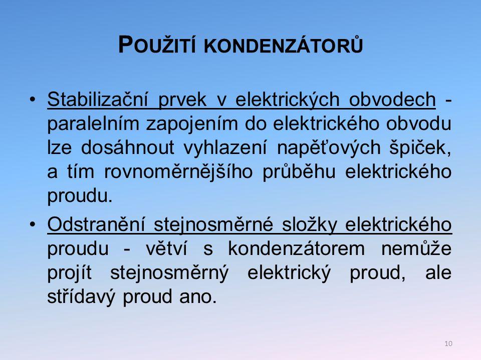 Použití kondenzátorů