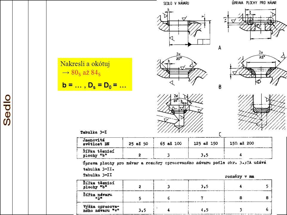 Nakresli a okótuj → 80S až 84S b = … , Ds = D0 = …