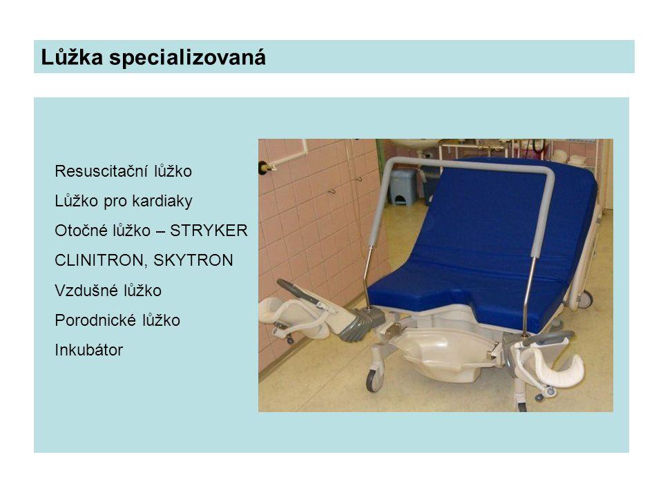 Lůžka specializovaná Resuscitační lůžko Lůžko pro kardiaky