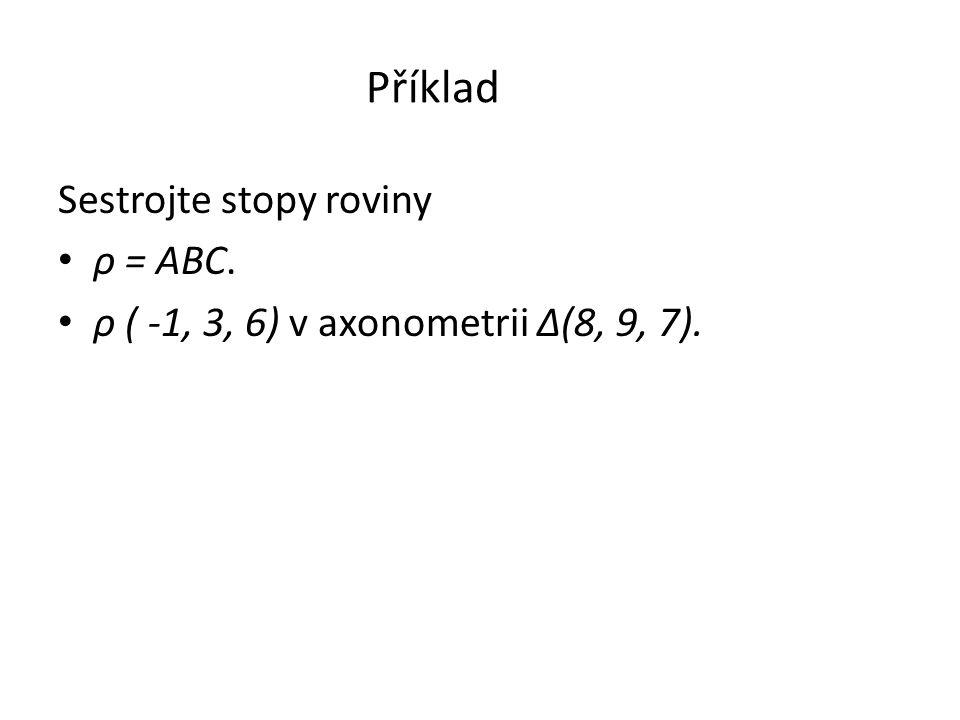 Příklad Sestrojte stopy roviny ρ = ABC.