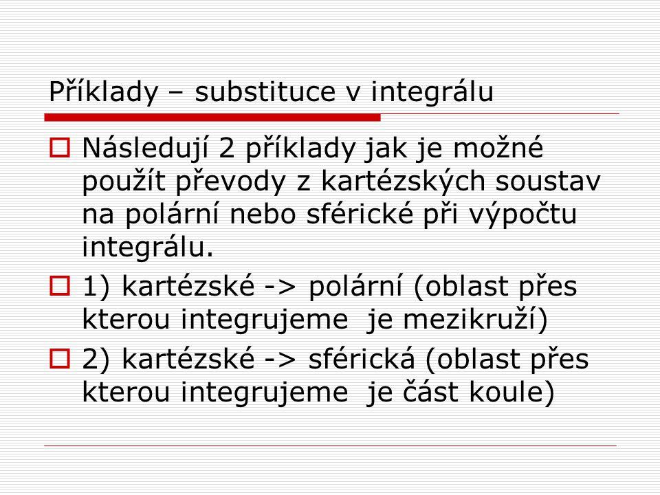 Příklady – substituce v integrálu