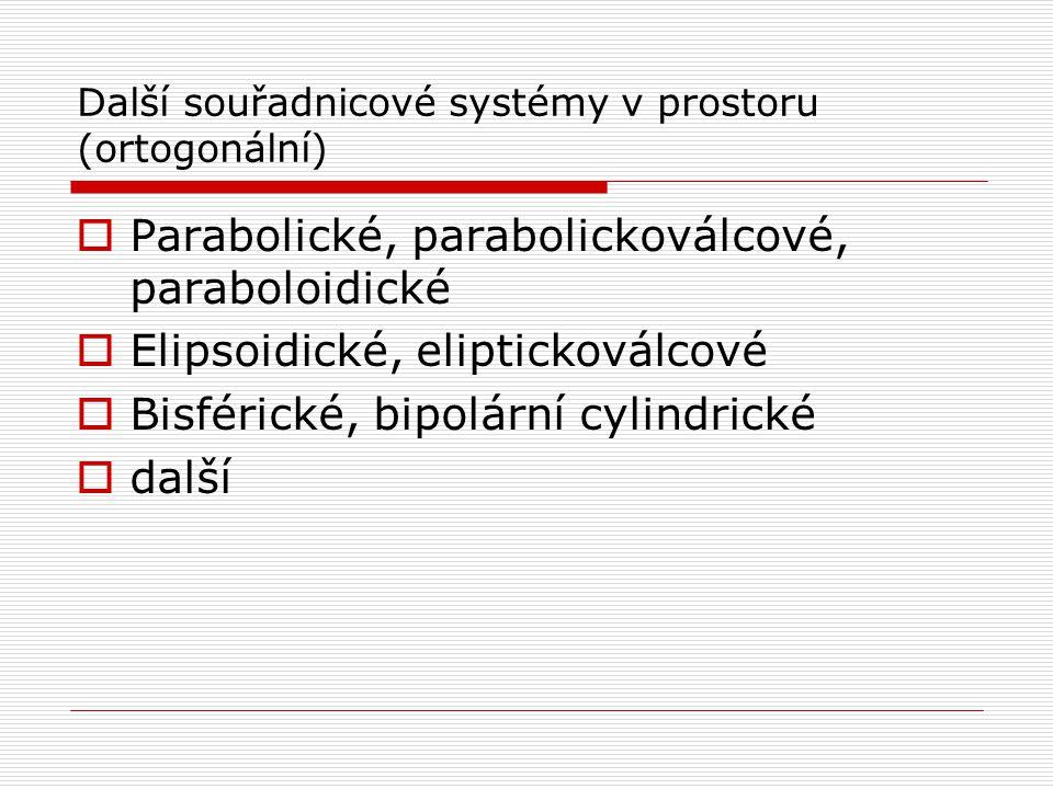 Další souřadnicové systémy v prostoru (ortogonální)