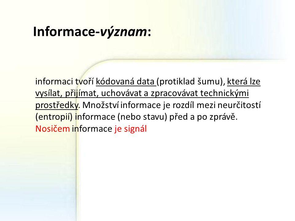 Informace-význam: