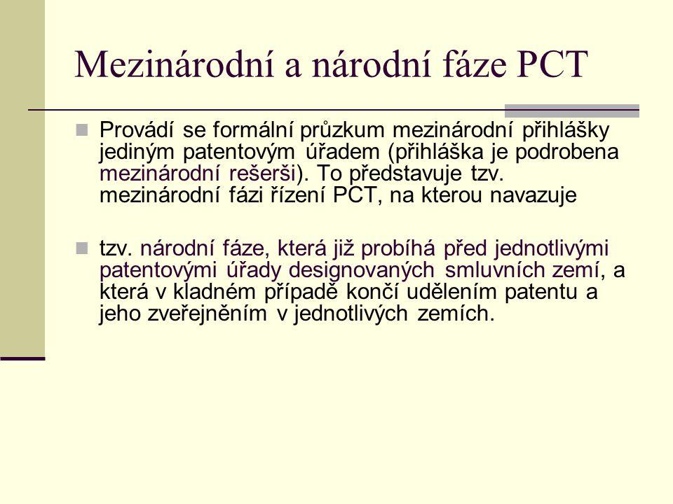 Mezinárodní a národní fáze PCT