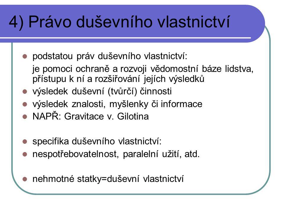 4) Právo duševního vlastnictví