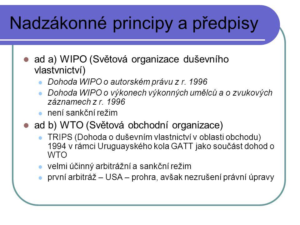 Nadzákonné principy a předpisy