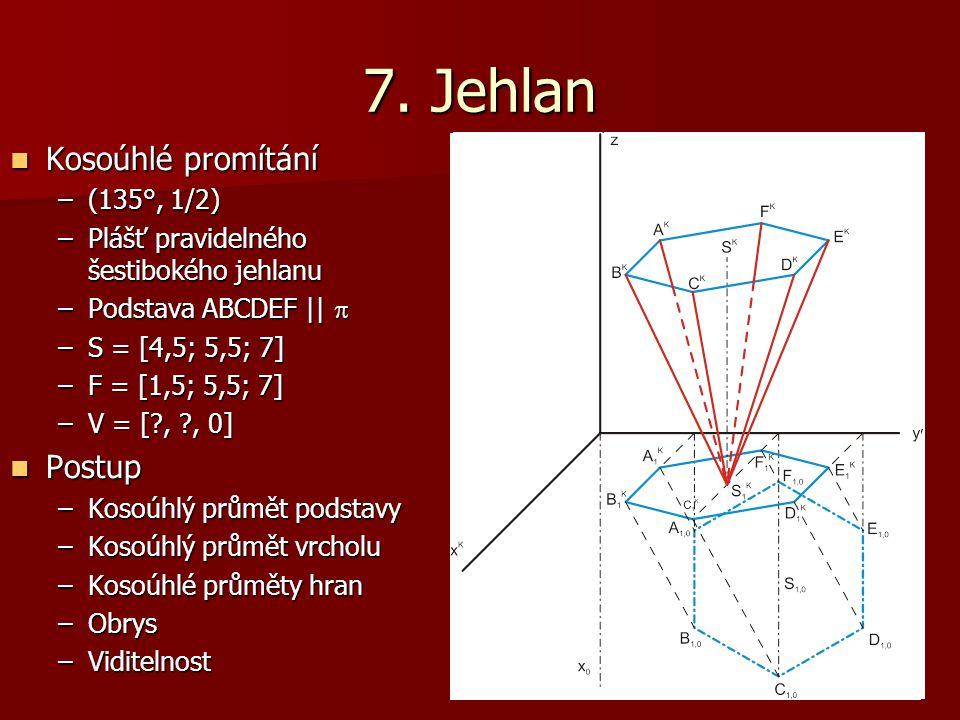7. Jehlan Kosoúhlé promítání Postup (135°, 1/2)