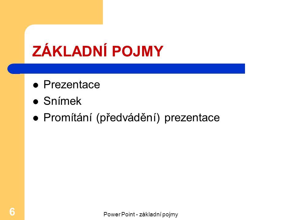 Power Point - základní pojmy