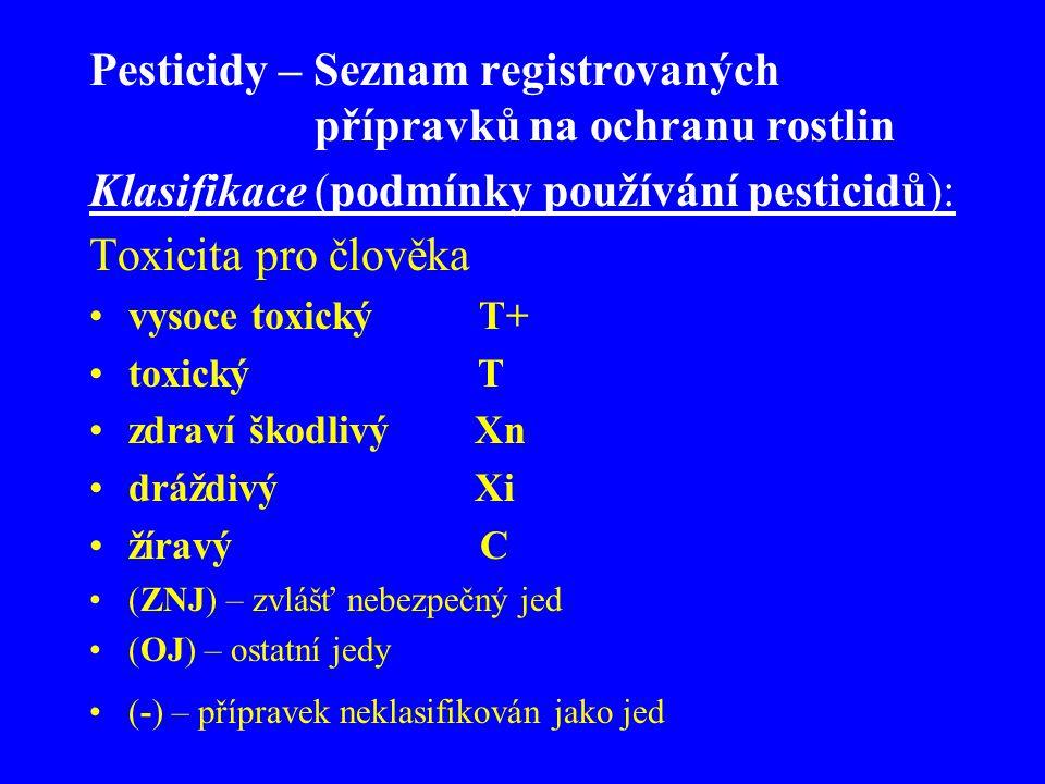 Pesticidy – Seznam registrovaných přípravků na ochranu rostlin