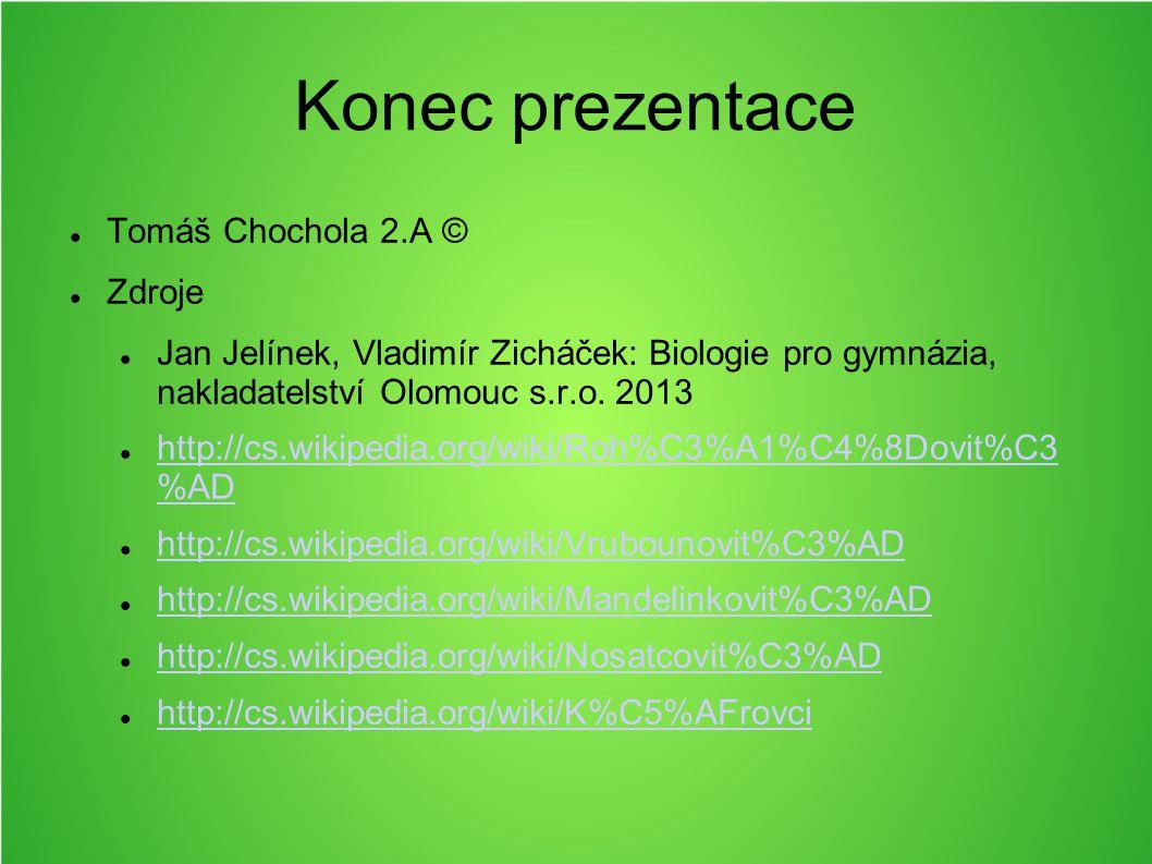 Konec prezentace Tomáš Chochola 2.A © Zdroje