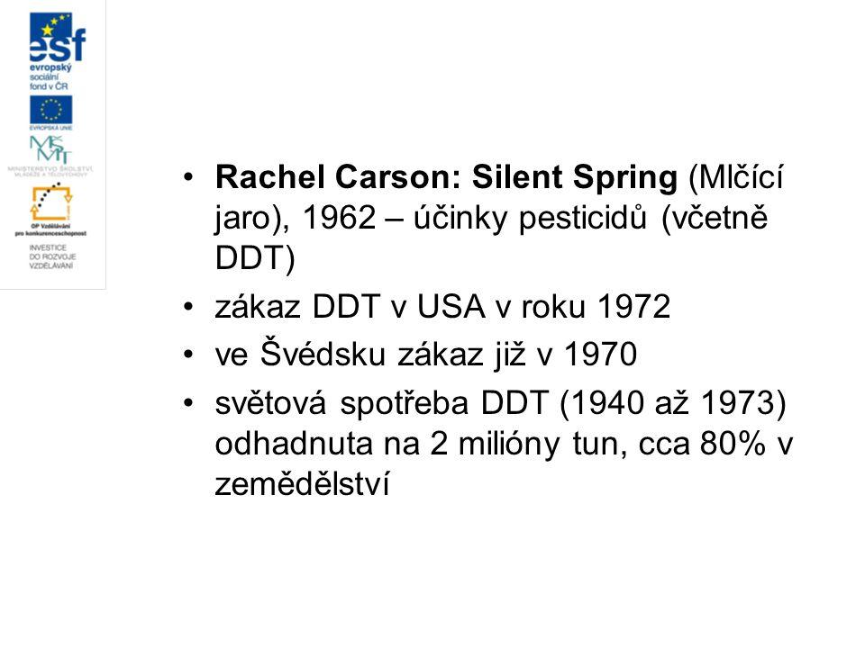 Rachel Carson: Silent Spring (Mlčící jaro), 1962 – účinky pesticidů (včetně DDT)