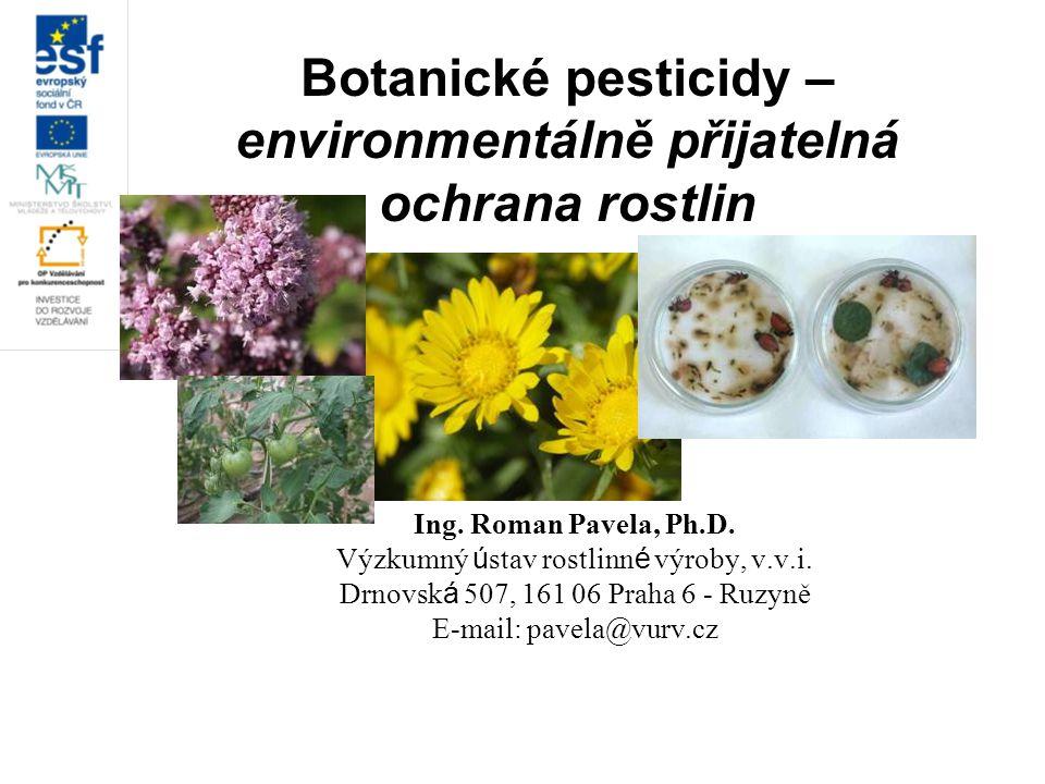 Botanické pesticidy – environmentálně přijatelná ochrana rostlin