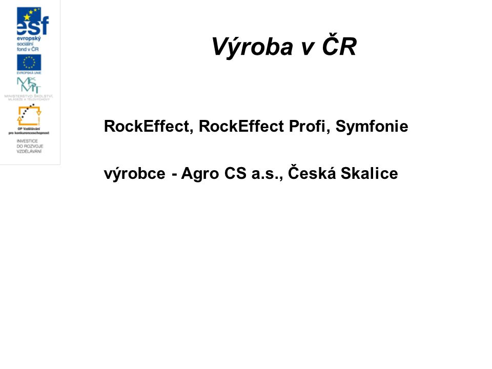 Výroba v ČR RockEffect, RockEffect Profi, Symfonie