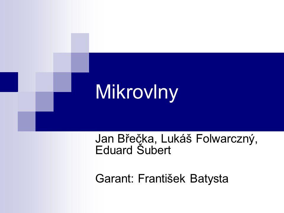 Jan Břečka, Lukáš Folwarczný, Eduard Šubert Garant: František Batysta