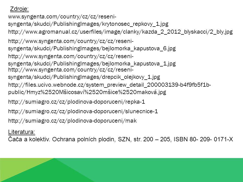 Zdroje: www.syngenta.com/country/cz/cz/reseni-syngenta/skudci/PublishingImages/krytonosec_repkovy_1.jpg.