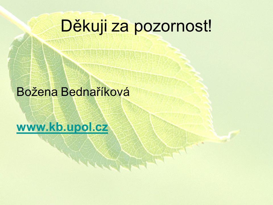 Děkuji za pozornost! Božena Bednaříková www.kb.upol.cz