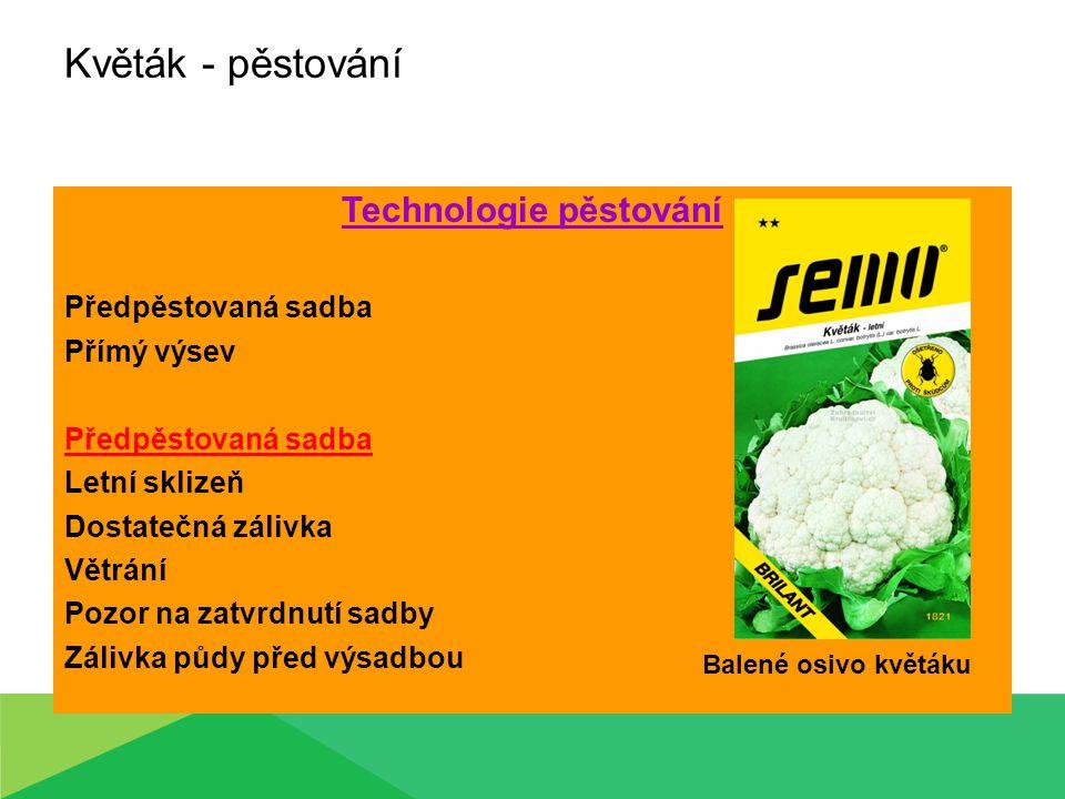 Technologie pěstování