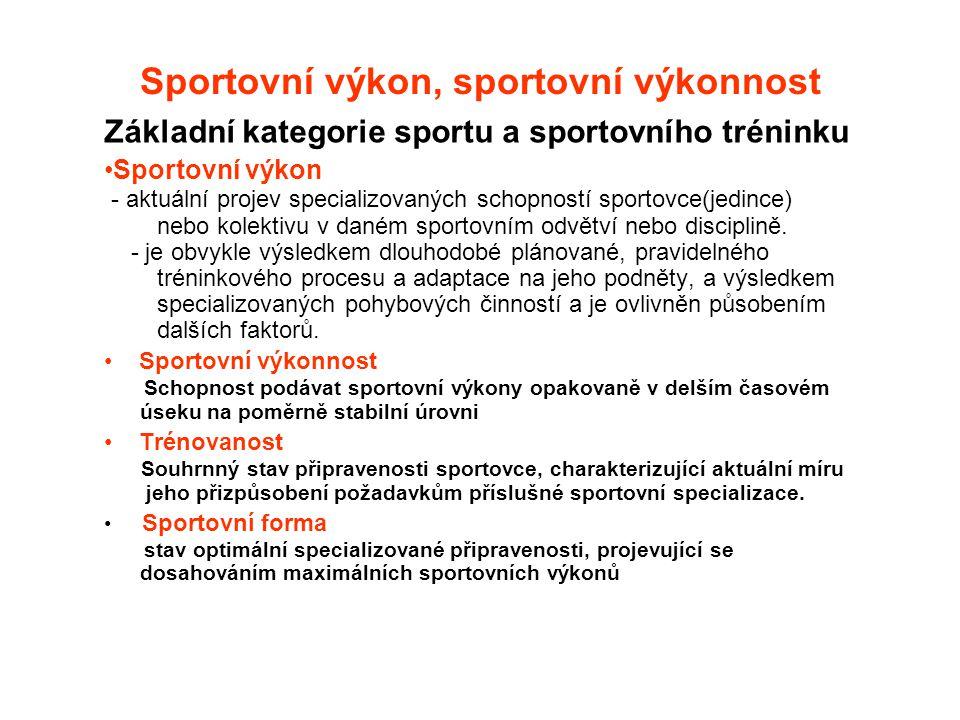 Sportovní výkon, sportovní výkonnost