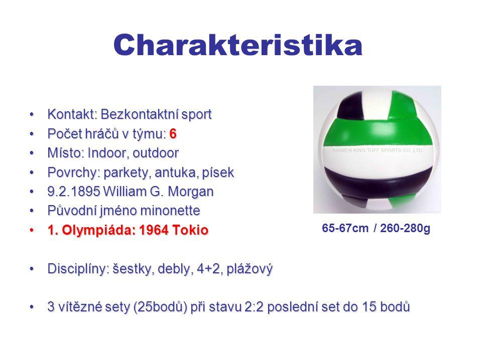 Charakteristika Kontakt: Bezkontaktní sport Počet hráčů v týmu: 6