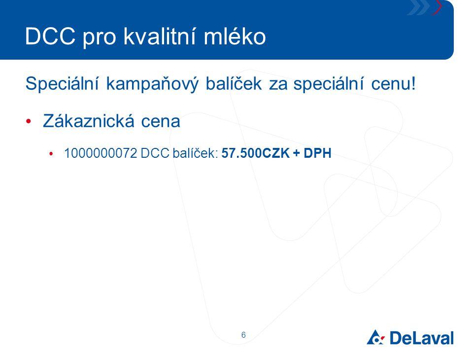 DCC pro kvalitní mléko Speciální kampaňový balíček za speciální cenu!