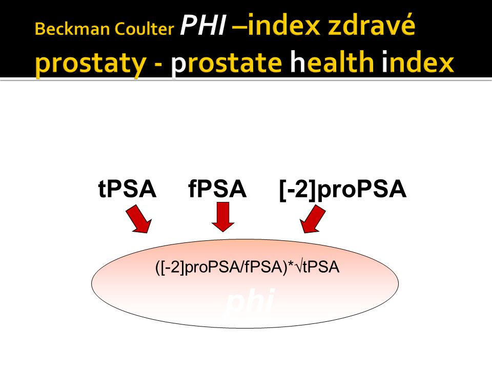 Beckman Coulter PHI –index zdravé prostaty - prostate health index