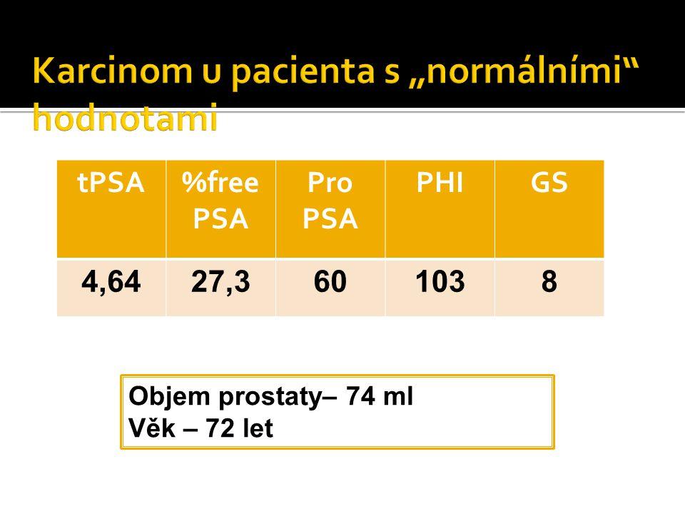 "Karcinom u pacienta s ""normálními hodnotami"