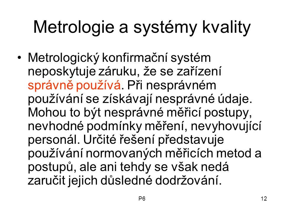 Metrologie a systémy kvality