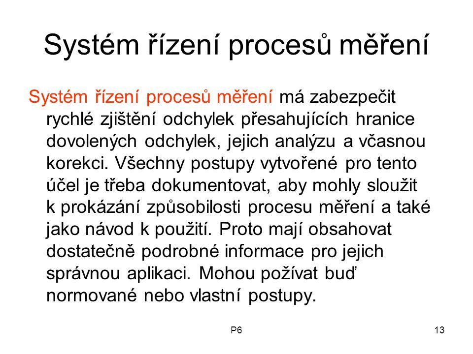 Systém řízení procesů měření