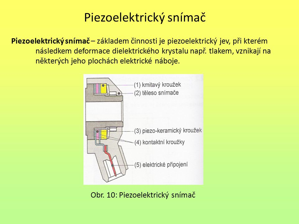 Piezoelektrický snímač