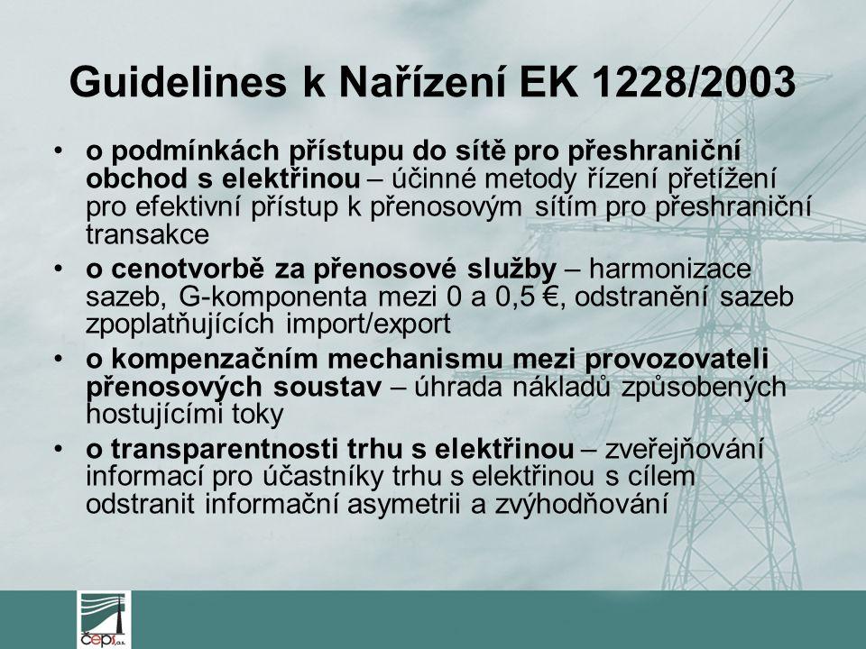 Guidelines k Nařízení EK 1228/2003