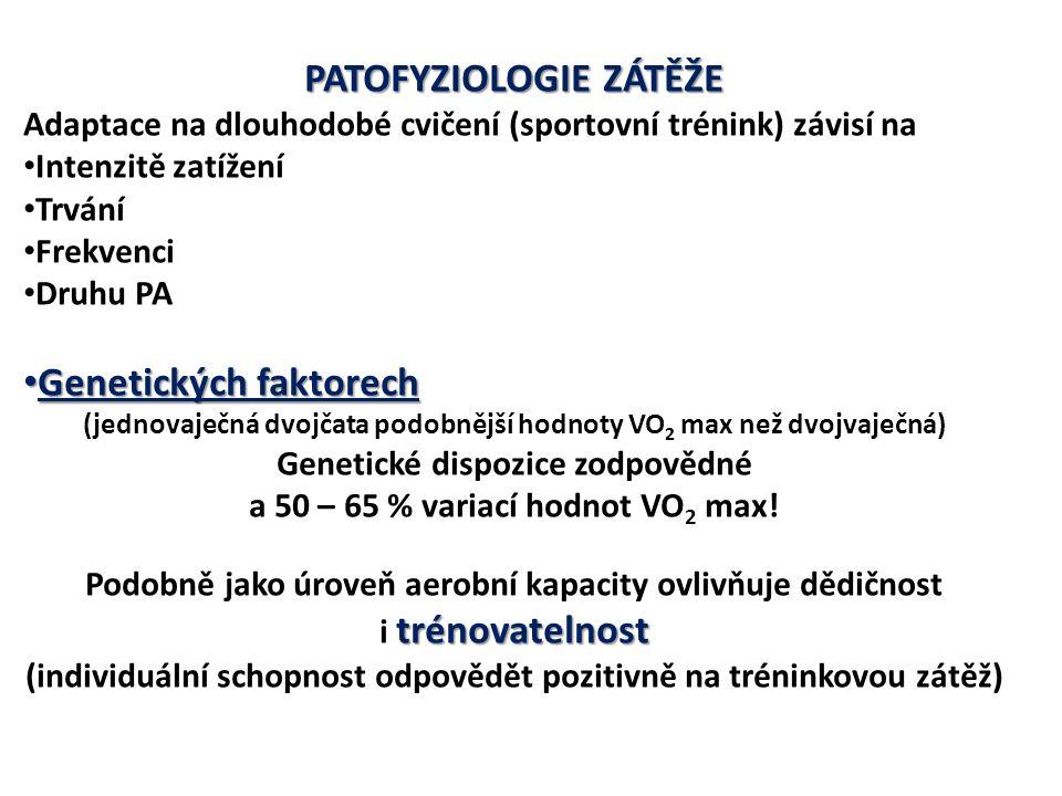 PATOFYZIOLOGIE ZÁTĚŽE