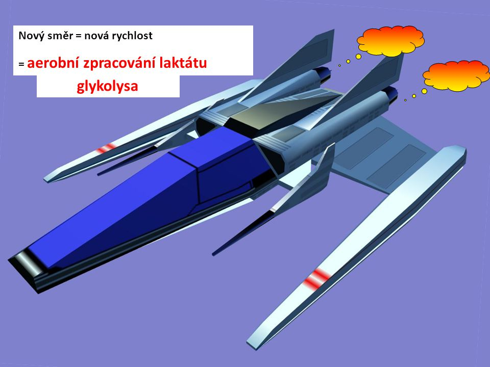 glykolysa Nový směr = nová rychlost = aerobní zpracování laktátu