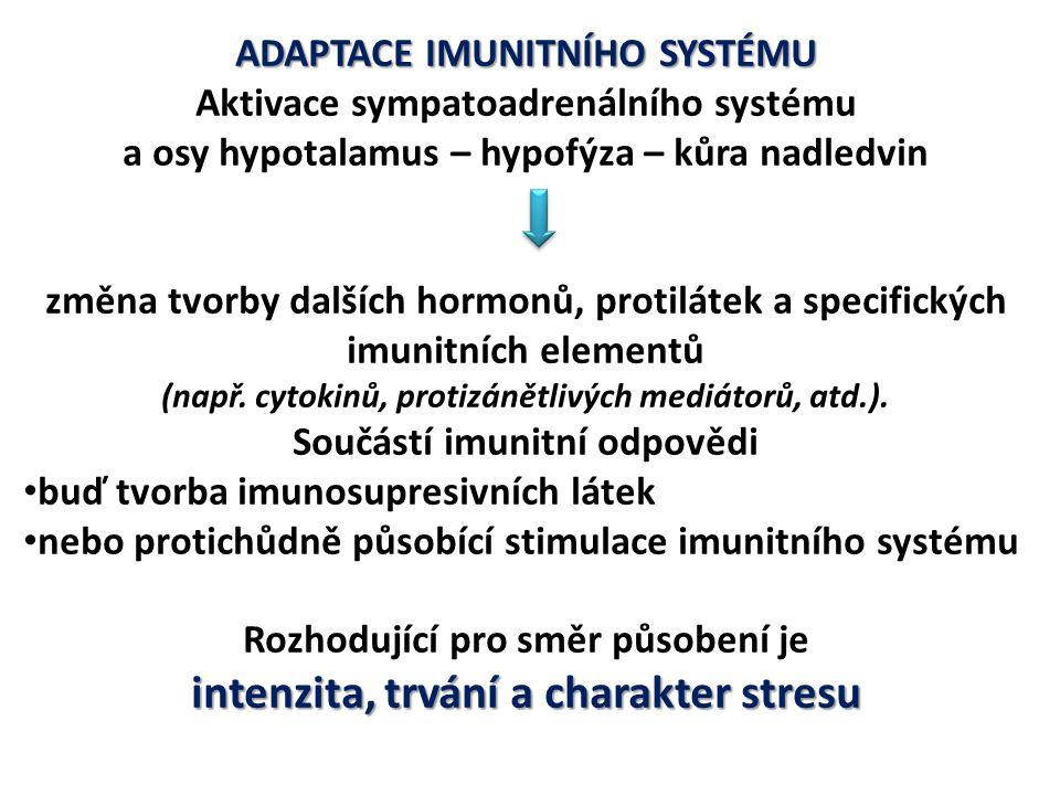 intenzita, trvání a charakter stresu
