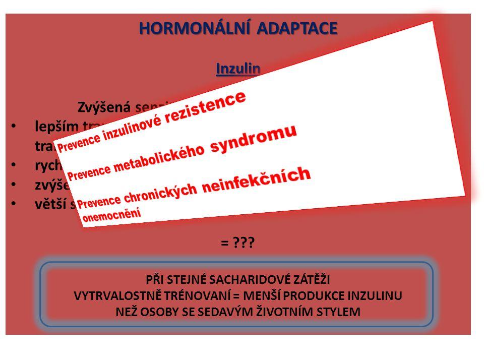 HORMONÁLNÍ ADAPTACE Inzulin