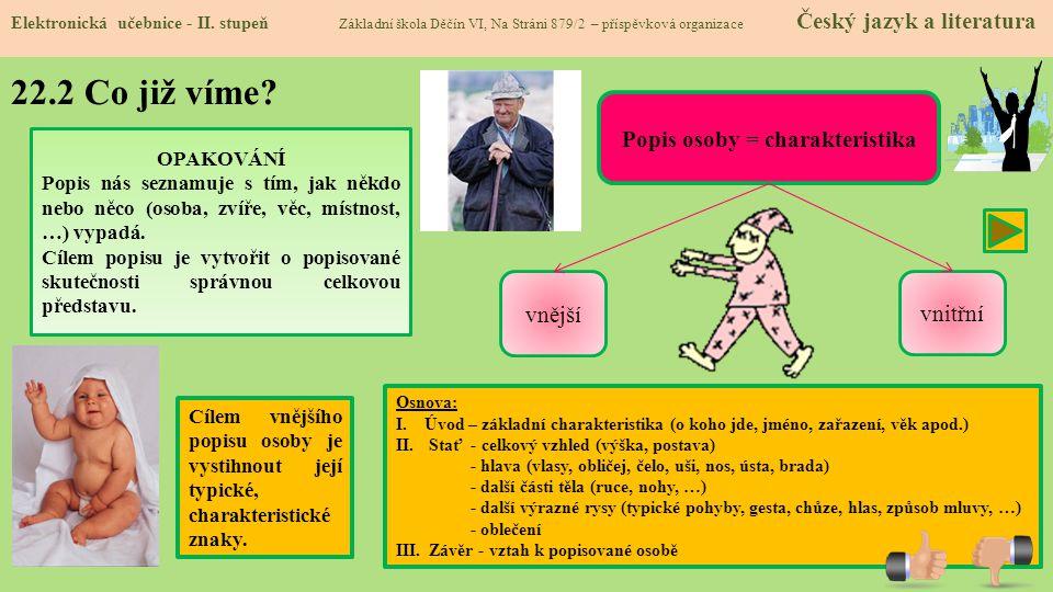 Popis osoby = charakteristika