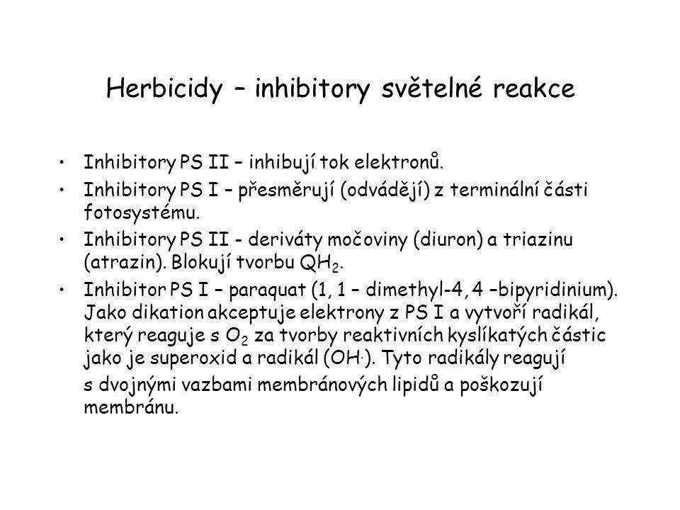 Herbicidy – inhibitory světelné reakce