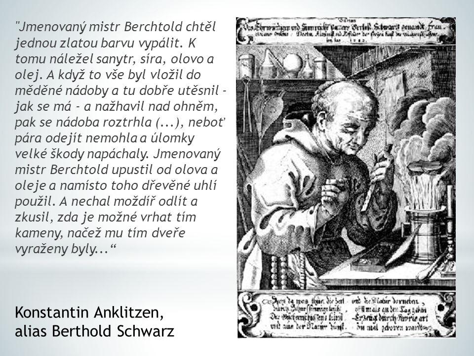 Jmenovaný mistr Berchtold chtěl jednou zlatou barvu vypálit