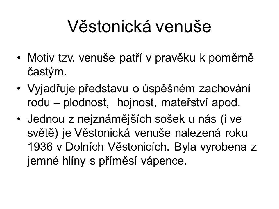 Věstonická venuše Motiv tzv. venuše patří v pravěku k poměrně častým.