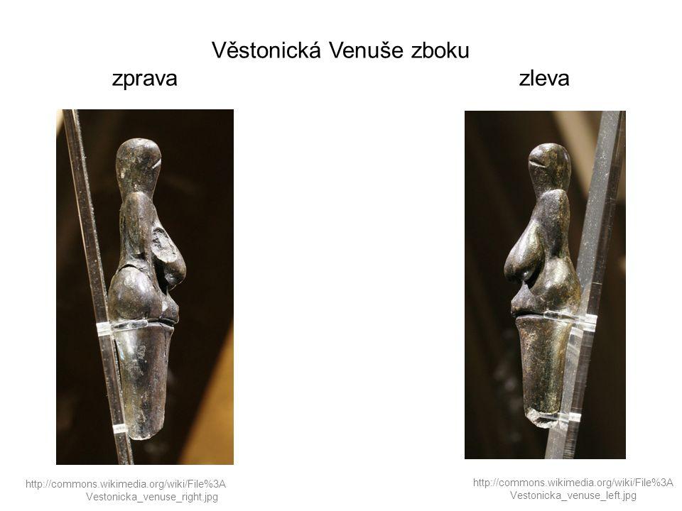Věstonická Venuše zboku zprava zleva