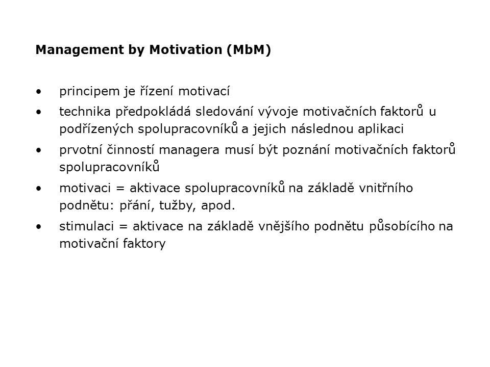 Management by Motivation (MbM)