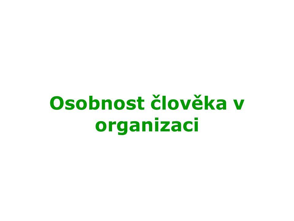 Osobnost člověka v organizaci