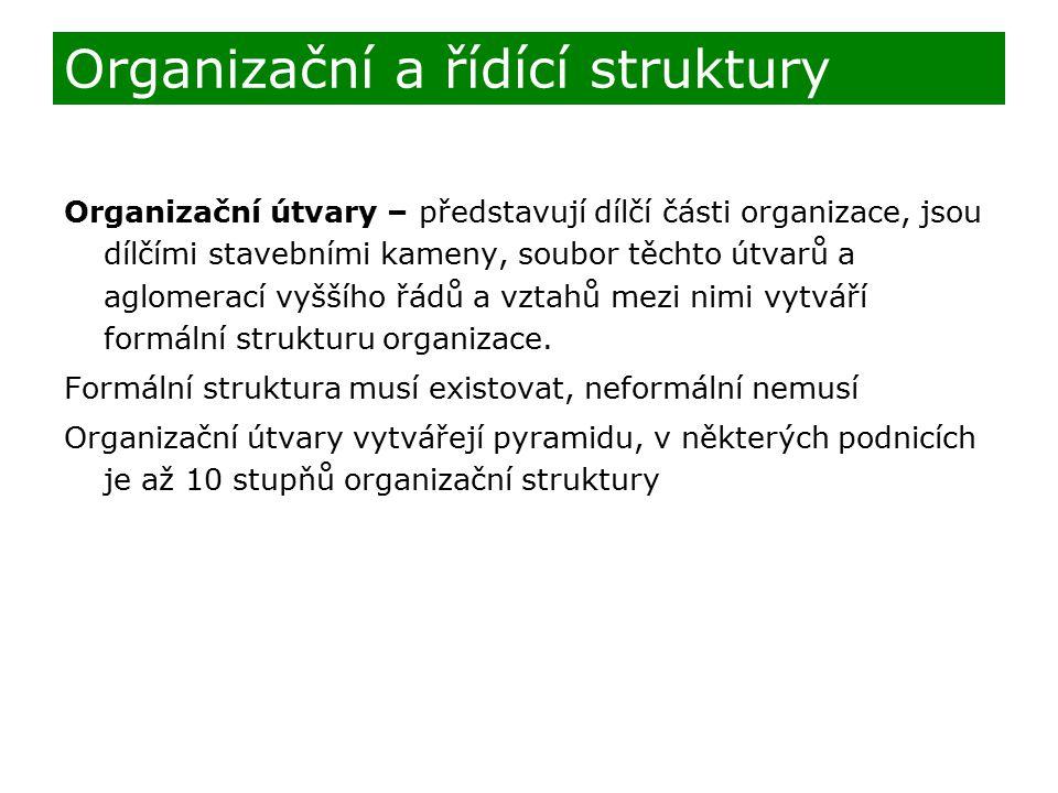 Organizační a řídící struktury