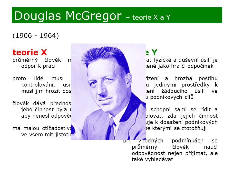Douglas McGregor – teorie X a Y